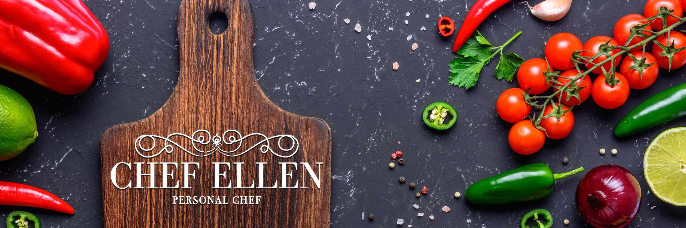 Chef Ellen Hero Image - Cutting Board with Vegetables