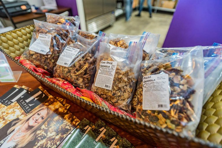 Selection of granola for sale